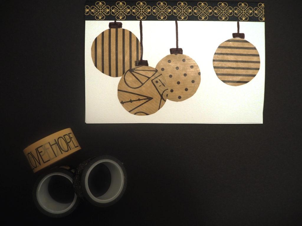 Weihnachtskarte mit Geschenkpapier