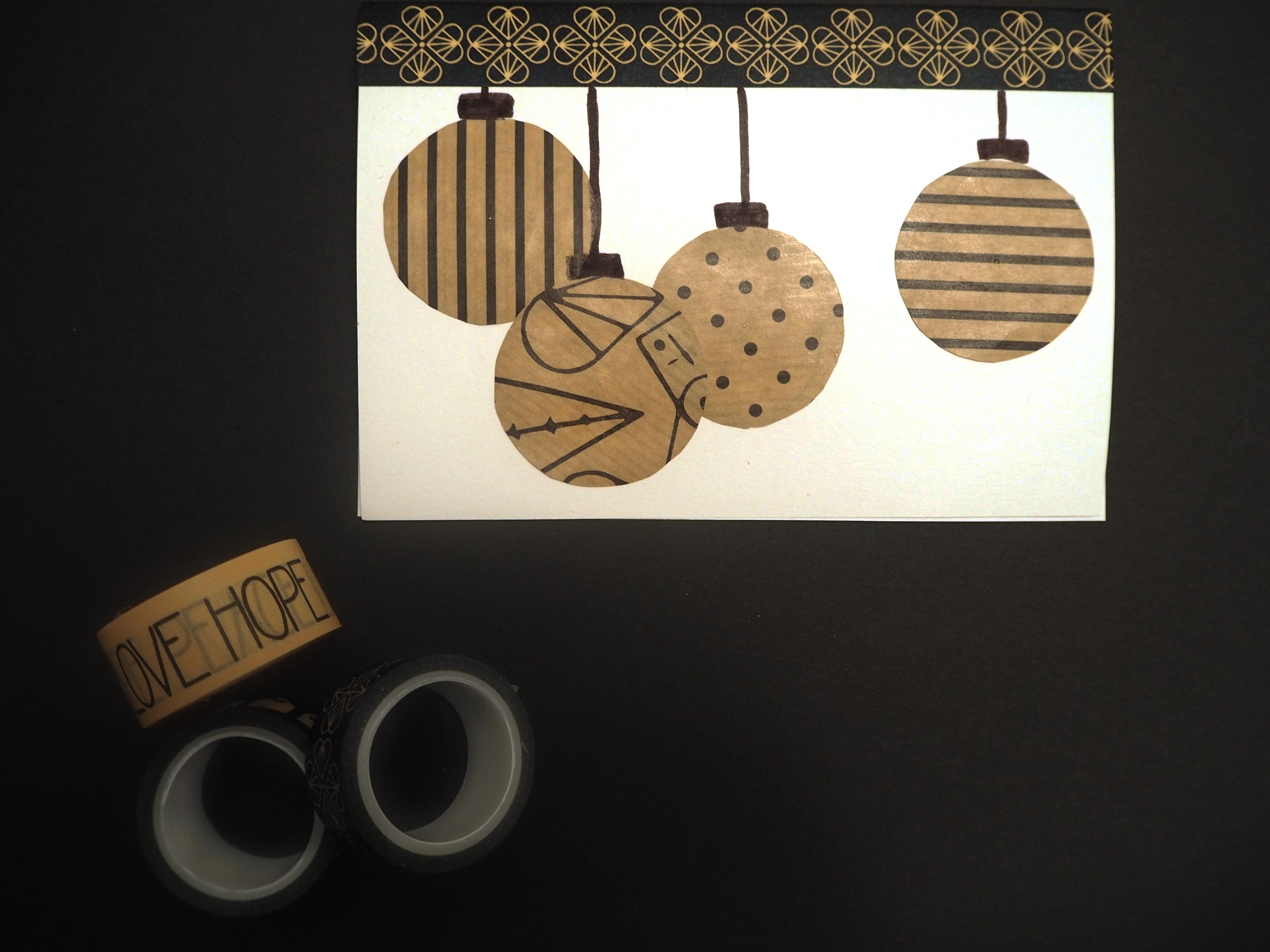 4 einzigartige DIY Weihnachtskarten kreatives Upcycling