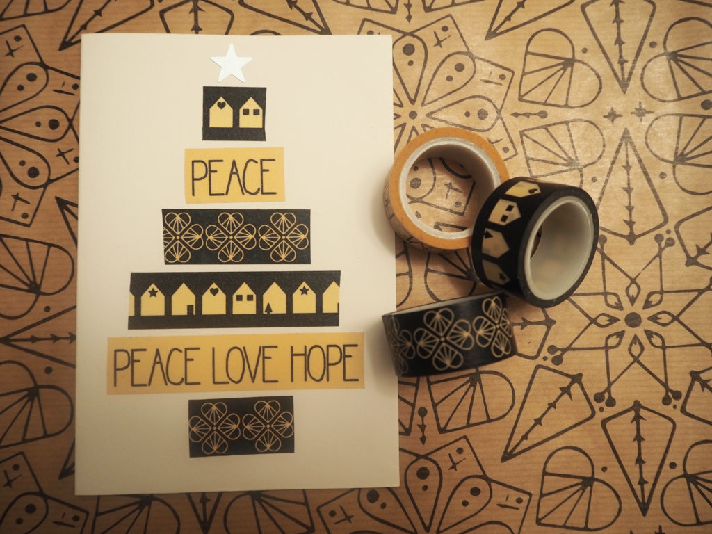 Weihnachtskarte mit Washi-Tape