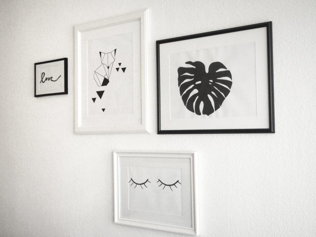 Diy bilderwand arrangieren dekorieren und gestalten - Bilderwand gestalten ...