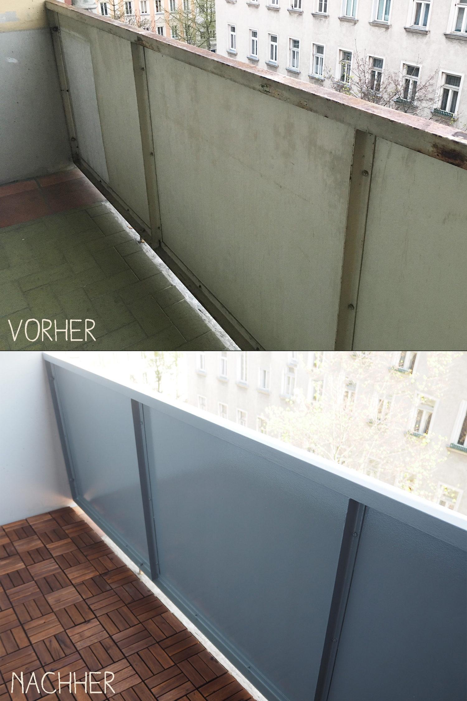 diy balkon gel nde vorher nachher. Black Bedroom Furniture Sets. Home Design Ideas