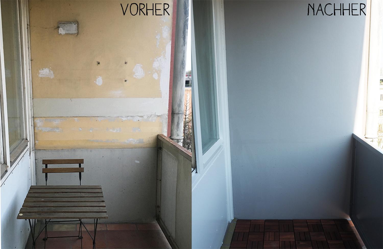 diy balkon vorher nachher. Black Bedroom Furniture Sets. Home Design Ideas
