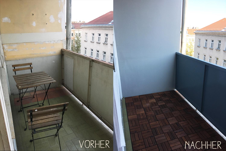 diy balkon vorher nachher1. Black Bedroom Furniture Sets. Home Design Ideas