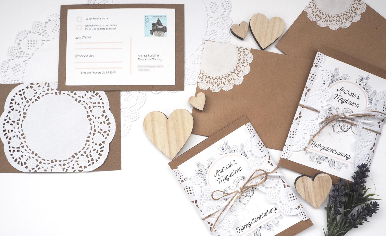 Hochzeits Diy Hochzeitseinladungen Im Vintagestil