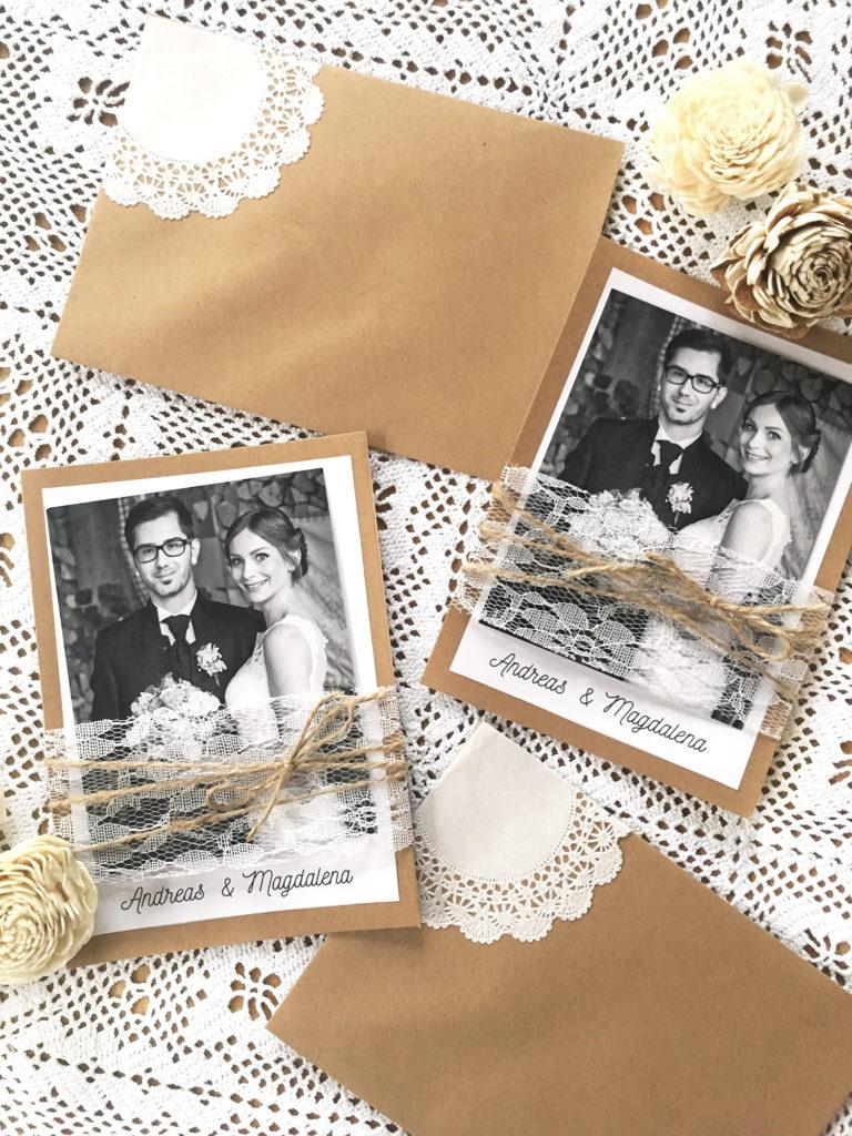 diy-dankeskarten-vintage-hochzeit-kuverts-tortenspitze