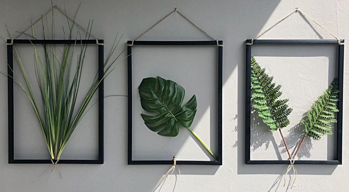 DIY Bilderrahmen Mit Kunstpflanzen