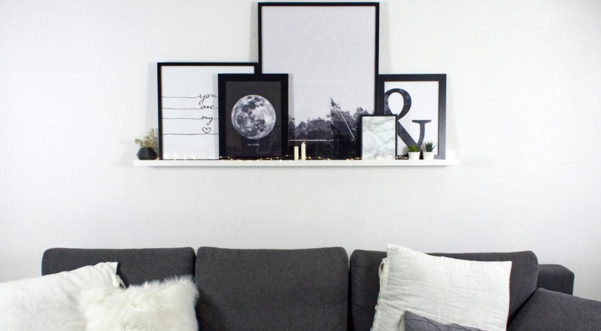 Tipps zum gestalten abwechslungsreicher bilderw nde mit bilderleisten - Bilderwand gestalten ...