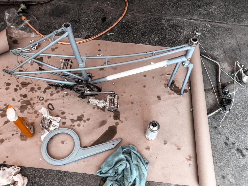 altes-fahrrad-säubern
