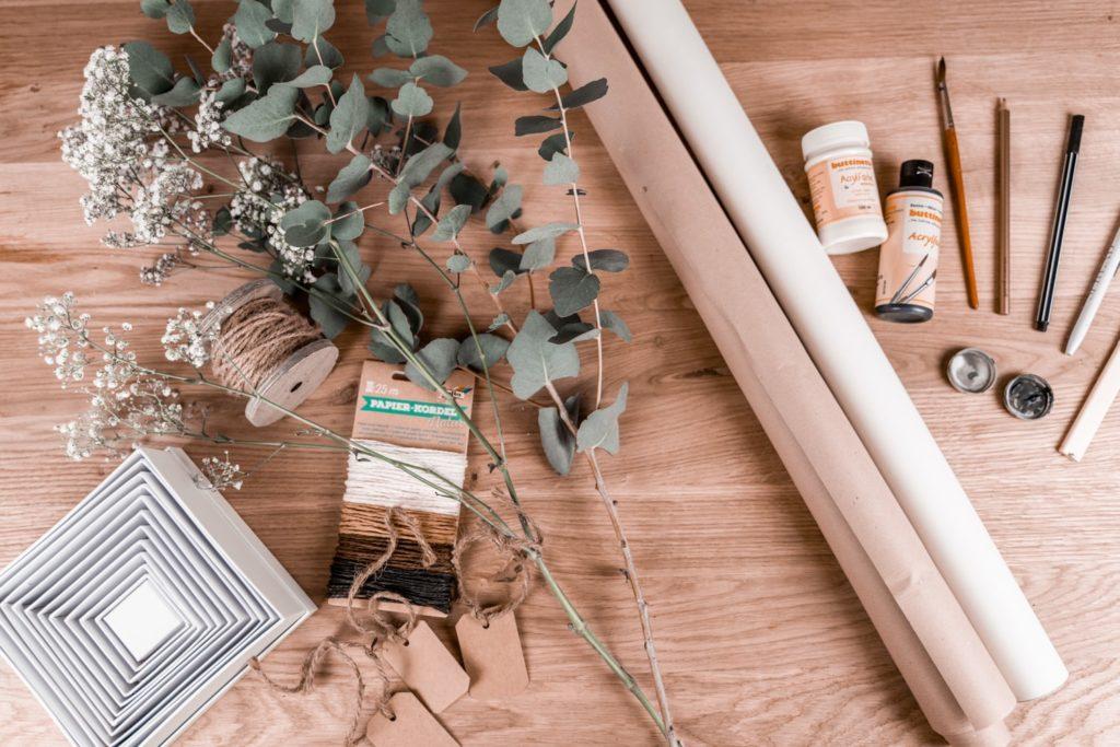 geschenkpapier-selber-machen-materialien