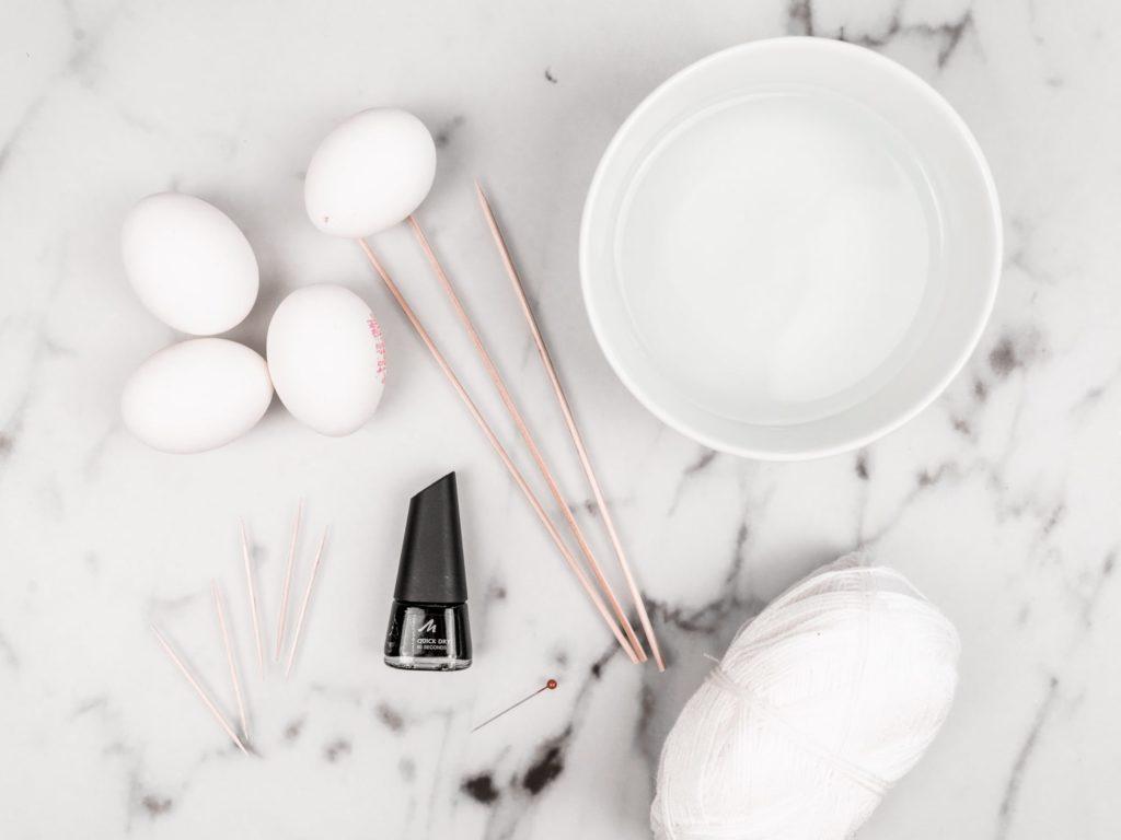 marmor-ostereier-färben-materialien